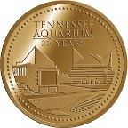 Tennesee Aquarium 20 Year Gold Medallion