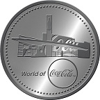 World of Coca-Cola Atlanta Logo Medallion